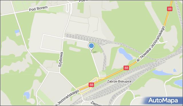 Zabrze, Gwarecka, mapa Zabrza