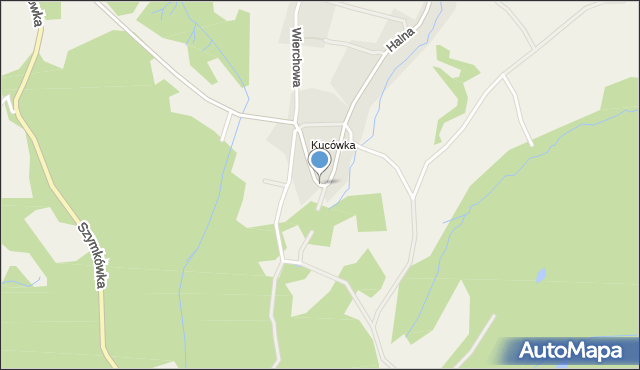 Brzegi gmina Bukowina Tatrzańska, Halna, mapa Brzegi gmina Bukowina Tatrzańska