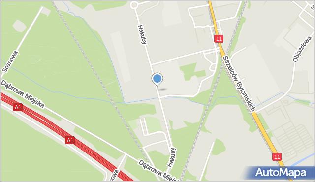 Bytom, Hakuby Ignatza, mapa Bytomia