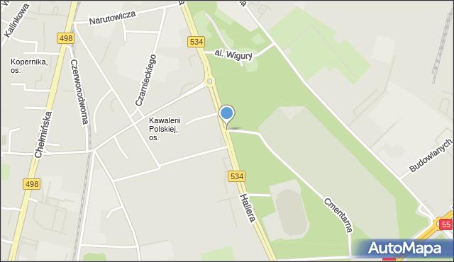 Grudziądz, Hallera Józefa, gen., mapa Grudziądza