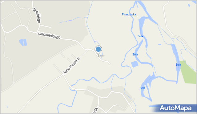 Hecznarowice, Handlowa, mapa Hecznarowice