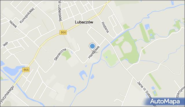 Lubaczów, Handlowa, mapa Lubaczów
