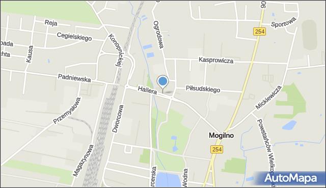Mogilno, Hallera Józefa, gen., mapa Mogilno
