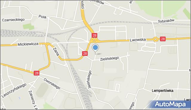 Przemyśl, Harcerska, mapa Przemyśla