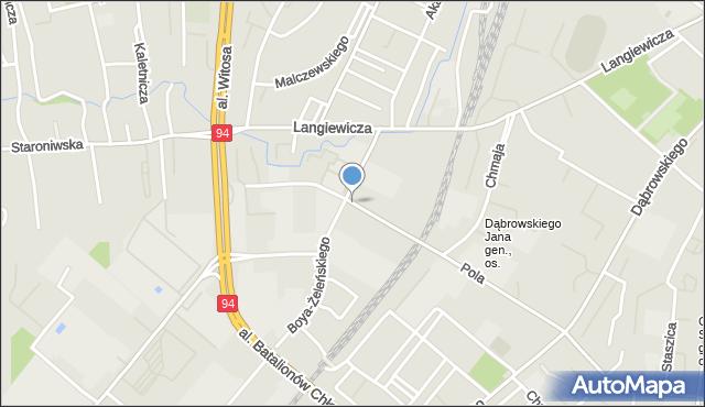 Rzeszów, Hanasiewicza, mapa Rzeszów