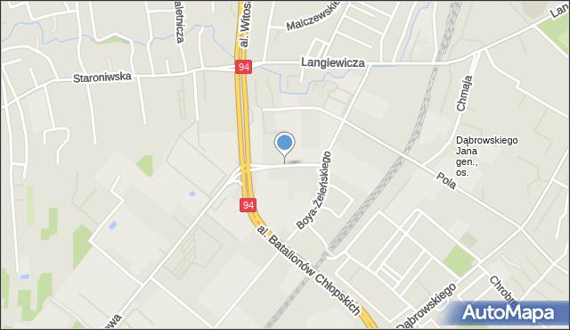 Rzeszów, Handlowa, mapa Rzeszów