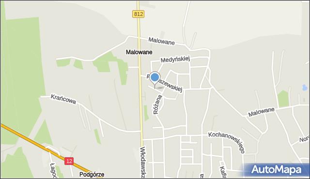 Chełm, Hempel Marii, mapa Chełma