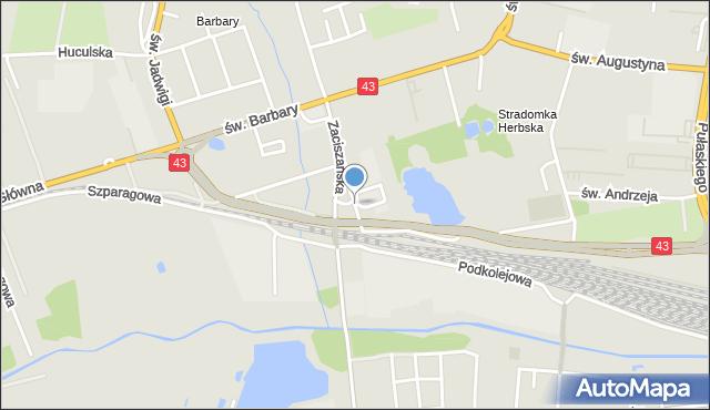 Częstochowa, Herbska, mapa Częstochowy