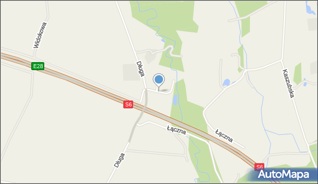 Luzino, Herberta Zbigniewa, mapa Luzino