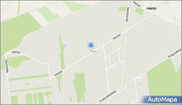 Poniatowa powiat opolski, Henin, mapa Poniatowa powiat opolski