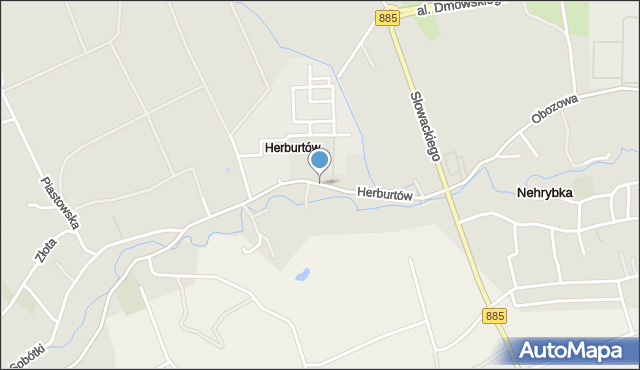 Przemyśl, Herburtów, mapa Przemyśla