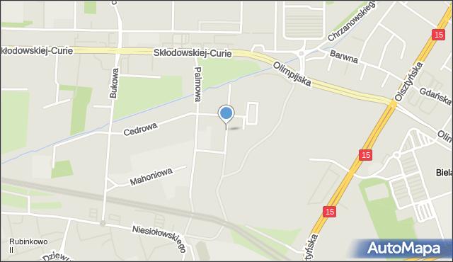 Toruń, Hebanowa, mapa Torunia