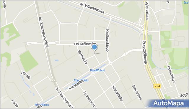 Warszawa, Herbu Leliwa, mapa Warszawy