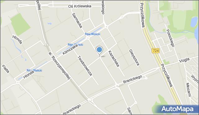 Warszawa, Herbu Szreniawa, mapa Warszawy