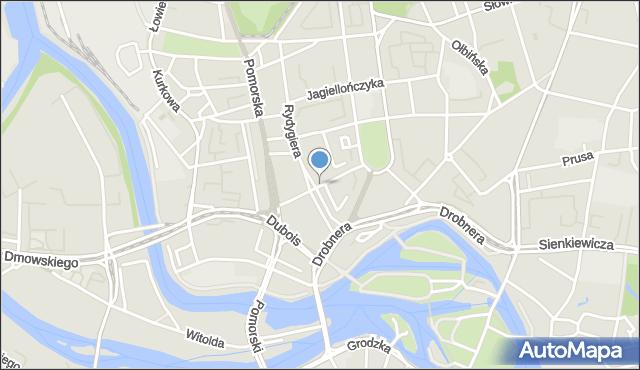 Wrocław, Henryka Brodatego, mapa Wrocławia