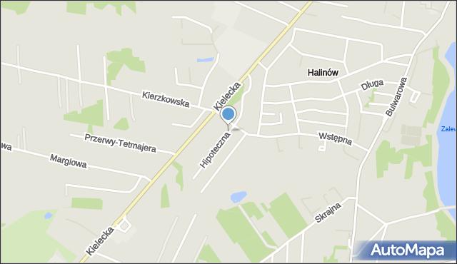 Radom, Hipoteczna, mapa Radomia