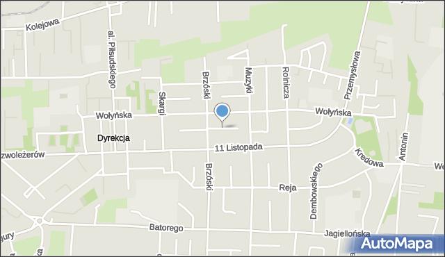 Chełm, Hołyszowej Pauliny, mapa Chełma
