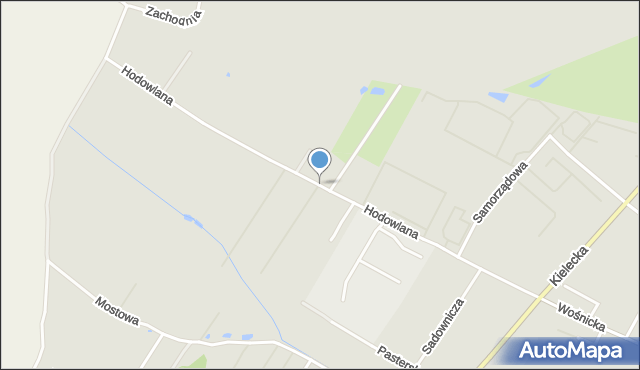 Radom, Hodowlana, mapa Radomia