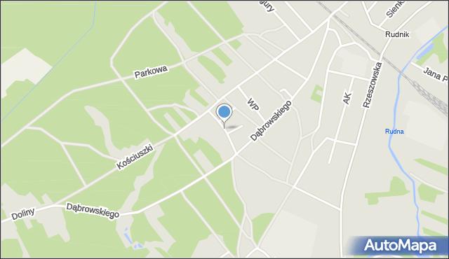 Rudnik nad Sanem, Hompescha Ferdynanda, mapa Rudnik nad Sanem