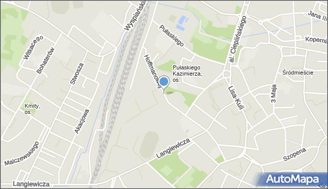 Rzeszów, Hoffmanowej Klementyny, mapa Rzeszów