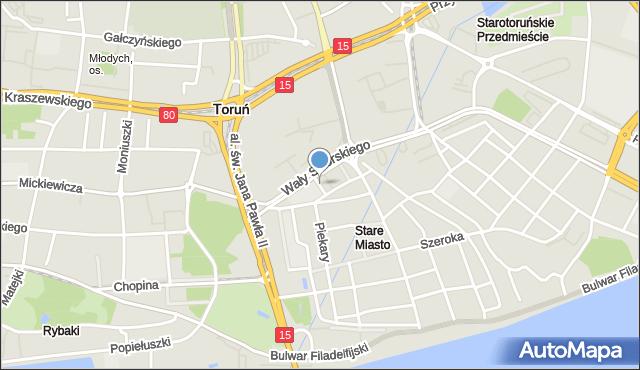 Toruń, Horzycy Wilama, mapa Torunia