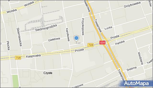 Warszawa, Hrubieszowska, mapa Warszawy