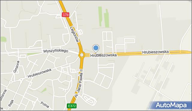 Zamość, Hrubieszowska, mapa Zamościa