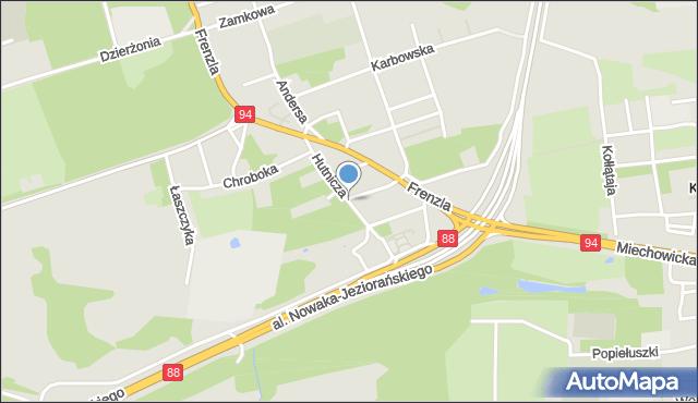 Bytom, Hutnicza, mapa Bytomia