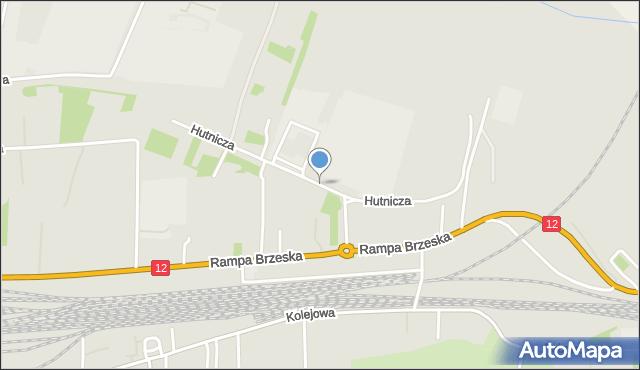 Chełm, Hutnicza, mapa Chełma