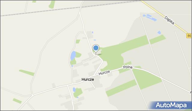 Hurcze, Hurcze, mapa Hurcze