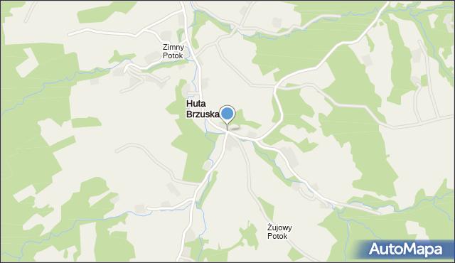Huta Brzuska, Huta Brzuska, mapa Huta Brzuska