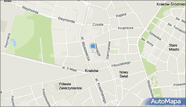 Kraków, Humberta Szczepana, mapa Krakowa