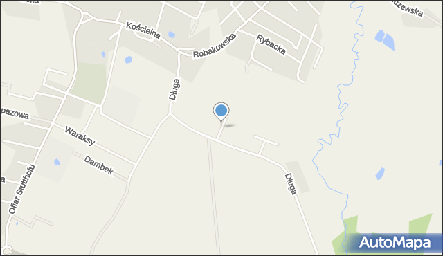 Luzino, Hubala Henryka, mjr., mapa Luzino