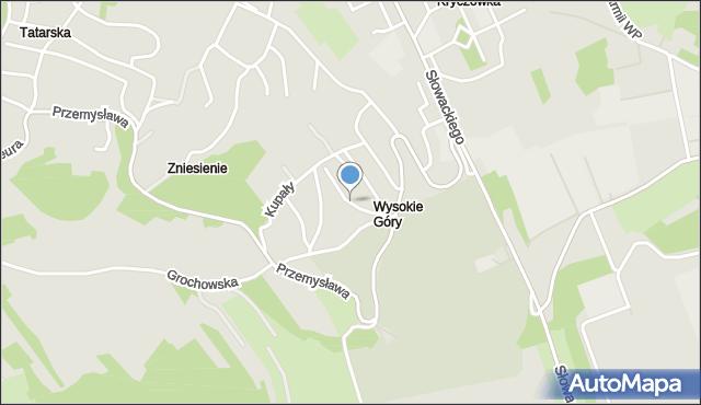 Przemyśl, Hubala Henryka, mjr., mapa Przemyśla