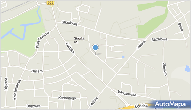 Toruń, Husarska, mapa Torunia