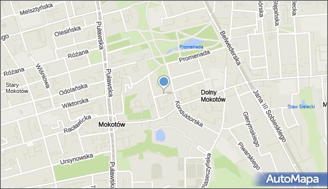 Warszawa, Huculska, mapa Warszawy