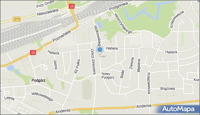 Toruń, Idzikowskiego Ludwika, mjr., mapa Torunia