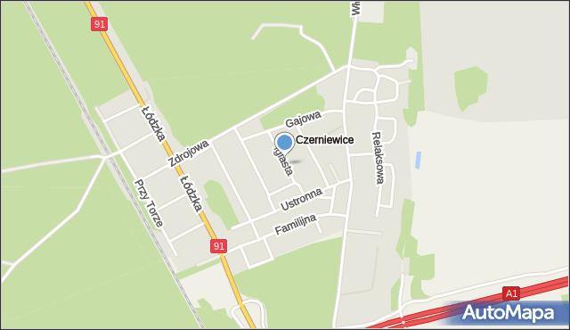 Toruń, Iglasta, mapa Torunia