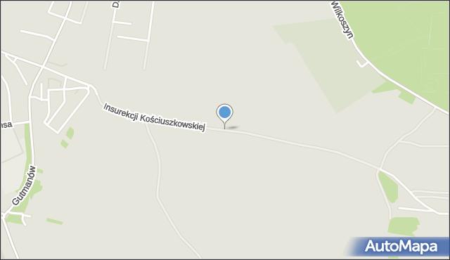 Jaworzno, Insurekcji Kościuszkowskiej, mapa Jaworzno