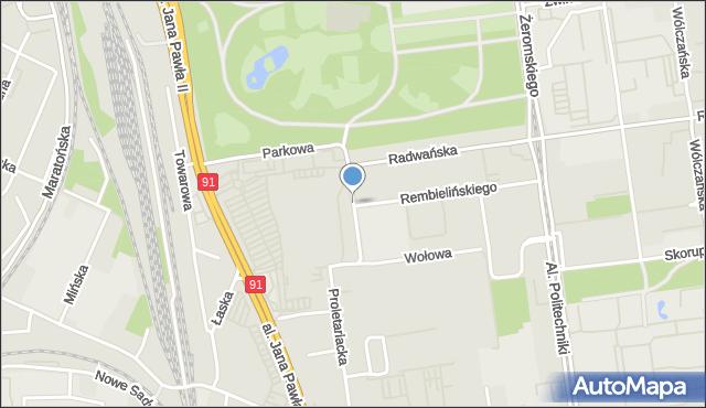 Łódź, Inżynierska, mapa Łodzi