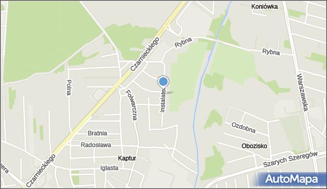 Radom, Instalatorów, mapa Radomia