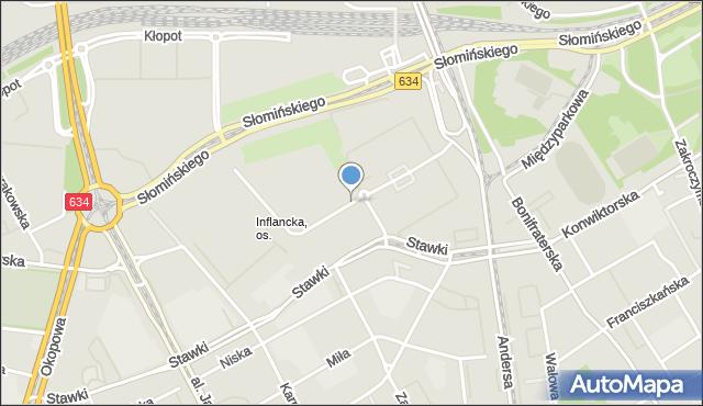 Warszawa, Inflancka, mapa Warszawy