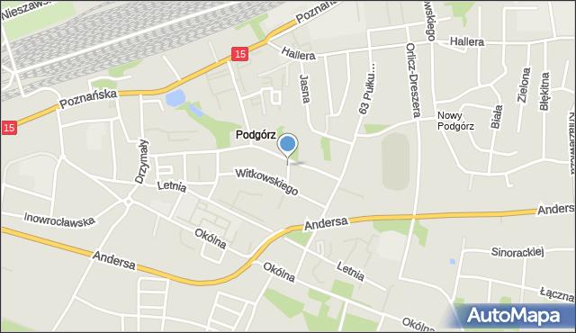 Toruń, Iwanowskiej Wilhelminy, mapa Torunia