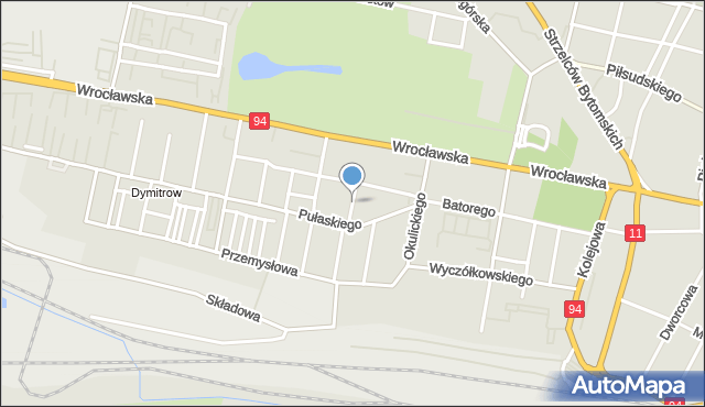 Bytom, Janasa Wincentego, mapa Bytomia