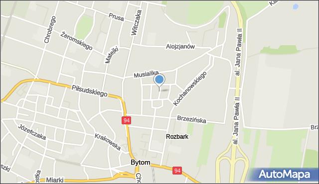 Bytom, Jaronia Jana Nikodema, mapa Bytomia