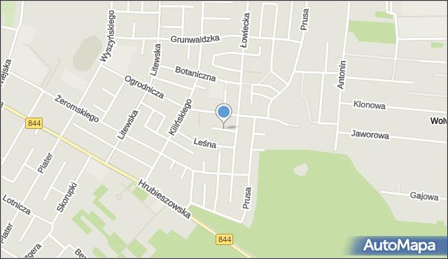 Chełm, Jałowcowa, mapa Chełma