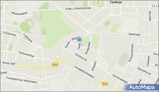 Chełm, Jana Kazimierza, mapa Chełma