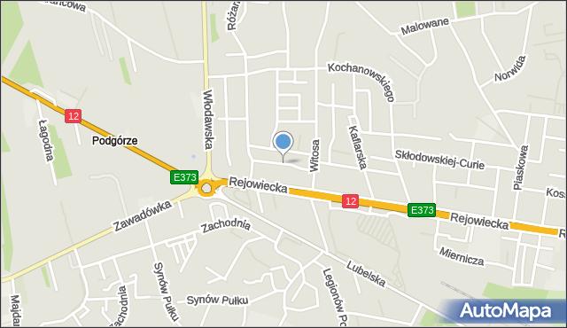 Chełm, Jaśminowa, mapa Chełma