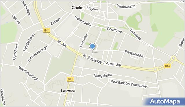 Chełm, Jasna, mapa Chełma