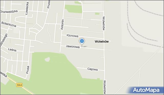 Chełm, Jaworowa, mapa Chełma